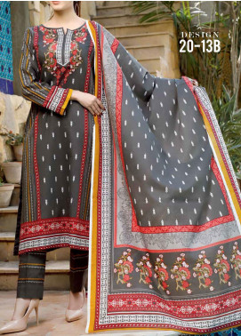 VS Textiles Printed Lawn Unstitched 3 Piece Suit VS20D 13-B - Summer Collection