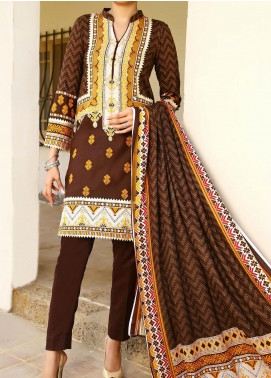 Daman by VS Textiles Printed Cambric Unstitched 3 Piece Suit VS20DC 1201 (B) - Winter Collection