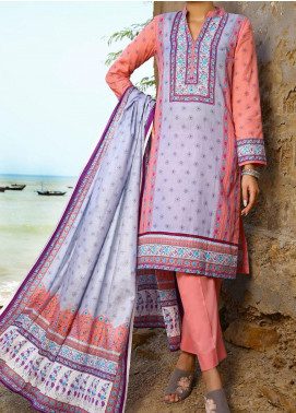 Daman by VS Textiles Printed Cambric Unstitched 3 Piece Suit VS20DC 1205 (B) - Winter Collection