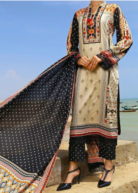 Daman by VS Textiles Printed Cambric Unstitched 3 Piece Suit VS20DC 1207 (A) - Winter Collection