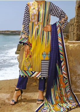 Daman by VS Textiles Printed Cambric Unstitched 3 Piece Suit VS20DC 1208 (A) - Winter Collection