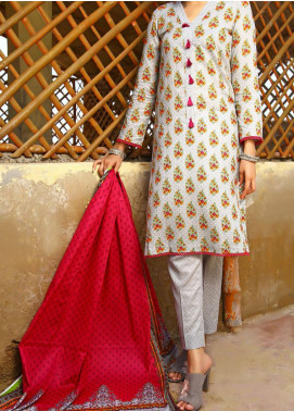 Daman by VS Textiles Printed Cambric Unstitched 3 Piece Suit VS20DC 1210 (B) - Winter Collection