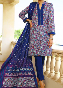 Daman by VS Textiles Printed Cambric Unstitched 3 Piece Suit VS20DC 1211 (A) - Winter Collection