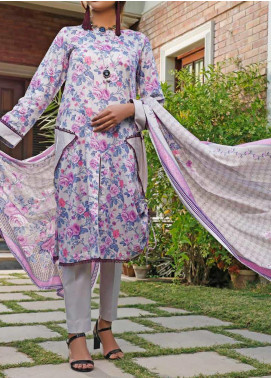 Daman by VS Textiles Printed Lawn Unstitched 3 Piece Suit VS20L 12B - Summer Collection