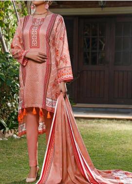 Daman by VS Textiles Printed Lawn Unstitched 3 Piece Suit VS20L 18B - Summer Collection
