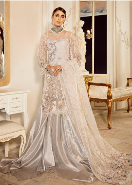Rouche Embroidered Organza Unstitched 3 Piece Suit RCH20DX 1 - Luxury Collection