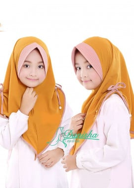 Danisha | Style of Hijab  Bubble Pop  Girls Scarves HH Danisha 06 Mustard