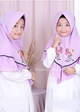 Danisha | Style of Hijab  Bubble Pop  Girls Scarves HH Danisha Flamingo 01 Purple