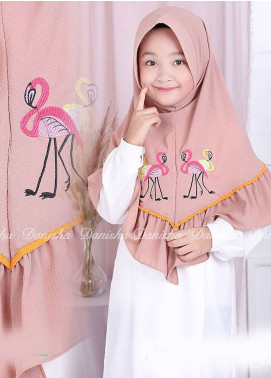 Danisha | Style of Hijab  Bubble Pop  Girls Scarves HH Danisha Flamingo 03 Mocca