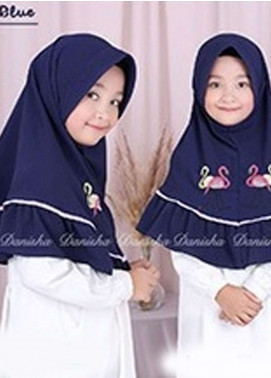 Danisha | Style of Hijab  Bubble Pop  Girls Scarves HH Danisha Flamingo 05 Navy Blue