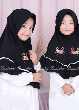 Danisha | Style of Hijab  Bubble Pop  Girls Scarves HH Danisha Flamingo 06 Black