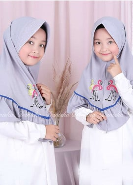 Danisha | Style of Hijab  Bubble Pop  Girls Scarves HH Danisha Flamingo 07 Grey
