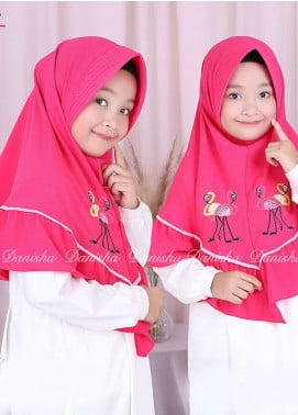 Danisha | Style of Hijab  Bubble Pop  Girls Scarves HH Danisha Flamingo 10 Dark Pink