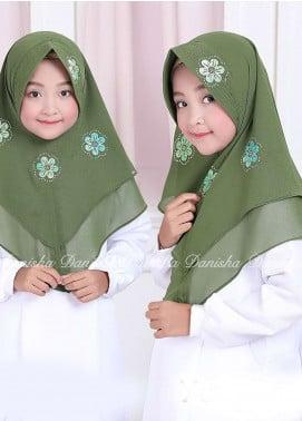 Danisha | Style of Hijab  Bubble Pop  Girls Scarves HH Danisha Yuzma 02 Green