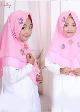 Danisha | Style of Hijab  Bubble Pop  Girls Scarves HH Danisha Yuzma 04 Baby Pink