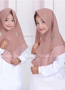 Danisha | Style of Hijab  Bubble Pop  Girls Scarves HH Danisha Yuzma 06 Mocca