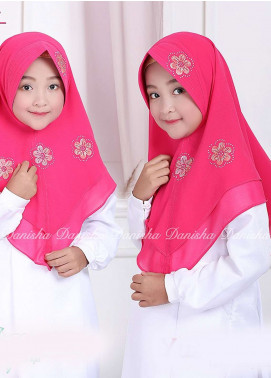 Danisha | Style of Hijab  Bubble Pop  Girls Scarves HH Danisha Yuzma 07 Dark Pink
