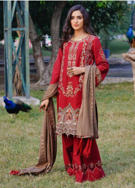 Dans Le Imperial by Anamta Embroidered Linen Unstitched 3 Piece Suit ANT20-DI2 05 - Winter Collection