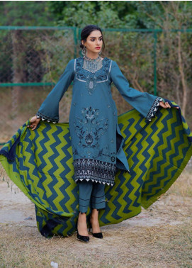 Dans Le Imperial by Anamta Embroidered Linen Unstitched 3 Piece Suit ANT20-DI2 06 - Winter Collection