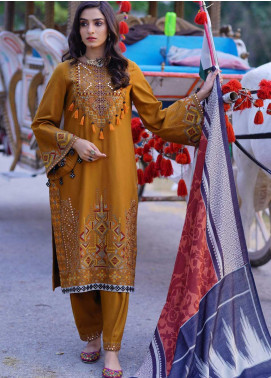 Dans Le Imperial by Anamta Embroidered Linen Unstitched 3 Piece Suit ANT20-DI2 07 - Winter Collection
