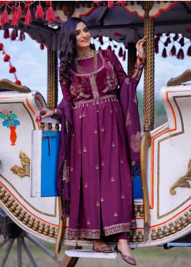 Dans Le Imperial by Anamta Embroidered Velvet Unstitched 3 Piece Suit ANT20-DI2 08 - Winter Collection