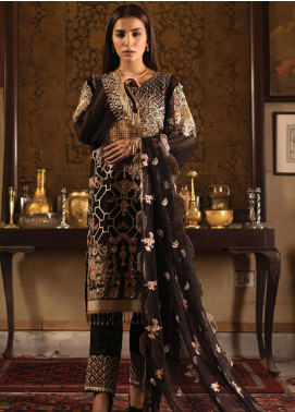 Dareechay by Lush Embroidered Chiffon Unstitched 3 Piece Suit LSH20D 001 - Luxury Collection