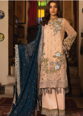Dareechay by Lush Embroidered Chiffon Unstitched 3 Piece Suit LSH20D 002 - Luxury Collection