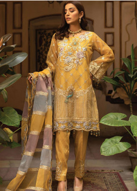 Dareechay by Lush Embroidered Organza Unstitched 3 Piece Suit LSH20D 003 - Luxury Collection