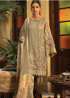 Dareechay by Lush Embroidered Organza Unstitched 3 Piece Suit LSH20D 004 - Luxury Collection