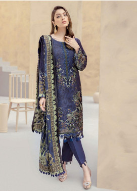 Dastoor by Ramsha Embroidered Linen Unstitched 3 Piece Suit RSH20D 101 - Winter Collection