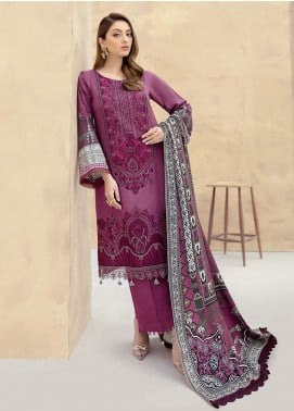 Dastoor by Ramsha Embroidered Linen Unstitched 3 Piece Suit RSH20D 102 - Winter Collection