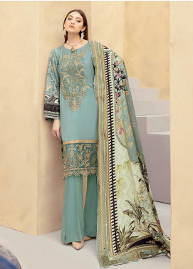 Dastoor by Ramsha Embroidered Linen Unstitched 3 Piece Suit RSH20D 103 - Winter Collection
