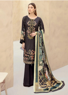 Dastoor by Ramsha Embroidered Linen Unstitched 3 Piece Suit RSH20D 104 - Winter Collection