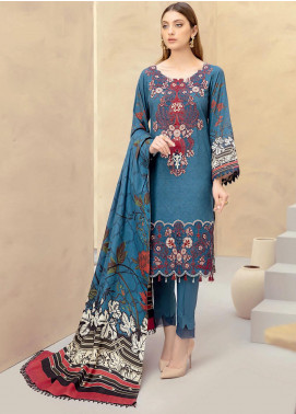 Dastoor by Ramsha Embroidered Linen Unstitched 3 Piece Suit RSH20D 105 - Winter Collection