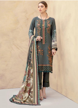 Dastoor by Ramsha Embroidered Linen Unstitched 3 Piece Suit RSH20D 106 - Winter Collection