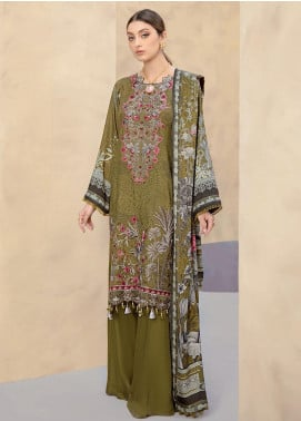 Dastoor by Ramsha Embroidered Linen Unstitched 3 Piece Suit RSH20D 108 - Winter Collection