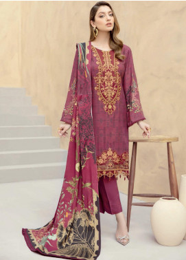 Dastoor by Ramsha Embroidered Linen Unstitched 3 Piece Suit RSH20D 109 - Winter Collection
