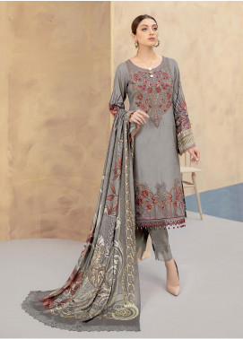 Dastoor by Ramsha Embroidered Linen Unstitched 3 Piece Suit RSH20D 110 - Winter Collection
