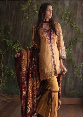Deeba Embroidered Velvet Unstitched 3 Piece Suit DB17V 10B