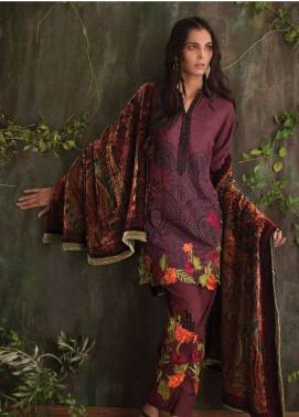 Deeba Embroidered Velvet Unstitched 3 Piece Suit DB17V 12B