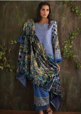 Deeba Embroidered Velvet Unstitched 3 Piece Suit DB17V 8A