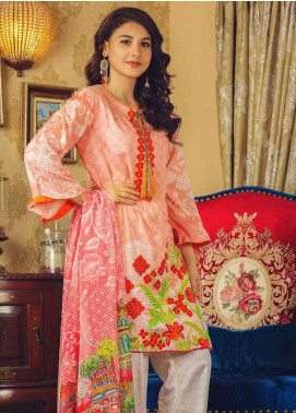 Deeba Embroidered Lawn Unstitched 3 Piece Suit DB19L 01B - Spring / Summer Collection