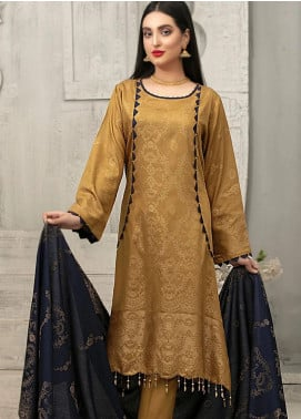 Delilah by Riaz Arts Broschia Banarsi Viscose Unstitched 3 Piece Suit RA20DV 197 - Winter Collection