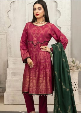 Delilah by Riaz Arts Broschia Banarsi Viscose Unstitched 3 Piece Suit RA20DV 198 - Winter Collection