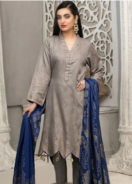 Delilah by Riaz Arts Broschia Banarsi Viscose Unstitched 3 Piece Suit RA20DV 202 - Winter Collection