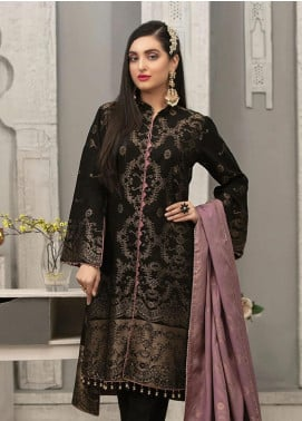 Delilah by Riaz Arts Broschia Banarsi Viscose Unstitched 3 Piece Suit RA20DV 203 - Winter Collection