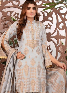 Deluxe by Riaz Arts Banarsi Broschia Unstitched 3 Piece Suit RA20D RA-43 - Spring / Summer Collection