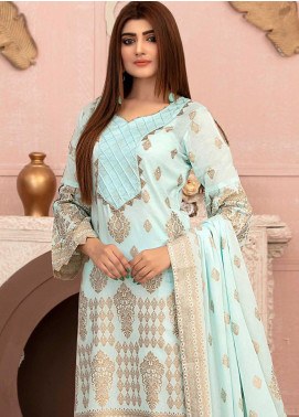 Deluxe by Riaz Arts Banarsi Broschia Unstitched 3 Piece Suit RA20D RA-44 - Spring / Summer Collection