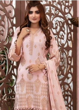 Deluxe by Riaz Arts Banarsi Broschia Unstitched 3 Piece Suit RA20D RA-45 - Spring / Summer Collection