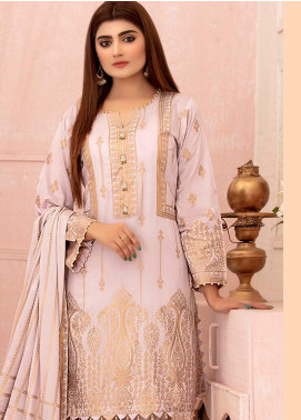 Deluxe by Riaz Arts Banarsi Broschia Unstitched 3 Piece Suit RA20D RA-47 - Spring / Summer Collection